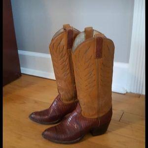 Vintage Dan Post Lizard skin boots